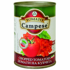 "ДОМАТИ ""Campese"" 400г /на кубчета/"